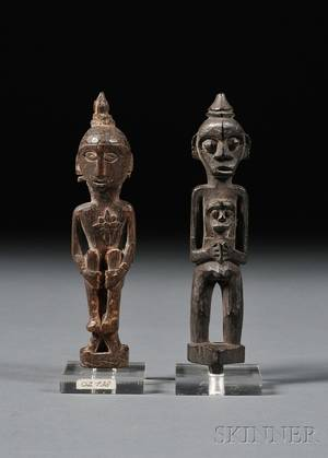 Two Indonesian Carved Wood Figures