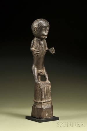 Indonesian Carved Wood Monkey