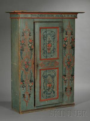 Scandinavian Painted Pine Armoire