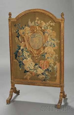 Louis XVI Giltwood and Tapestryinset Firescreen
