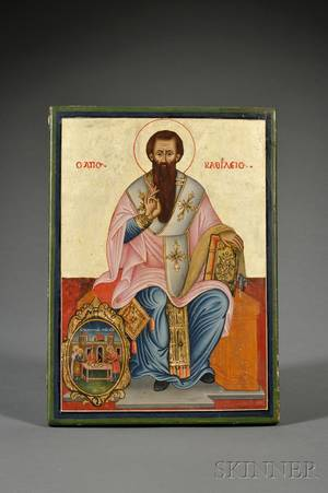Greek Icon of Saint Basil