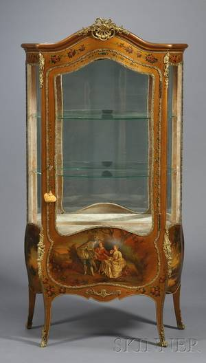 Louis XVstyle Vernis Martin and Ormolumounted Display Cabinet