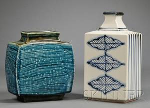 Two Studio Pottery Vases in the Style of Hamada