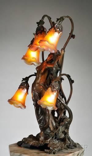 Gustav Gurschner 18731971 Art Nouveau Table Lamp