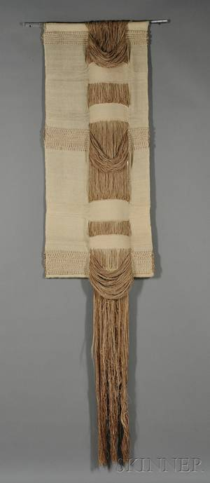 Woven Wool and Linen Wall Hanging