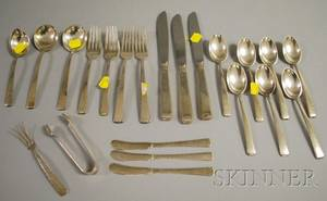 Group of Towle Old Lace Pattern Sterling Silver Flatware