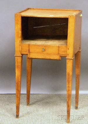 Provincial Fruitwood Bedside Cabinet