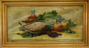 20th Century American School Oil on Canvas Still Life with Duck