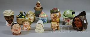Twelve Assorted Ceramic Figural Tobacco Jars and Table Items