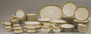 Ninetyfive Piece Limoges Transferdecorated Porcelain Partial Dinner Service