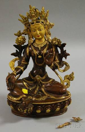 Giltbronze Seated Maitreya Figure