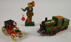Three Lithographed Tin Toys