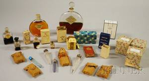 Large Group of Vintage Perfume Bottles and Scent Vials