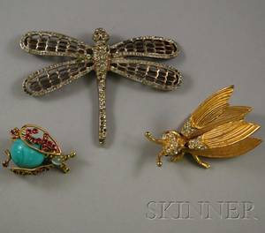 Three Insect Brooches