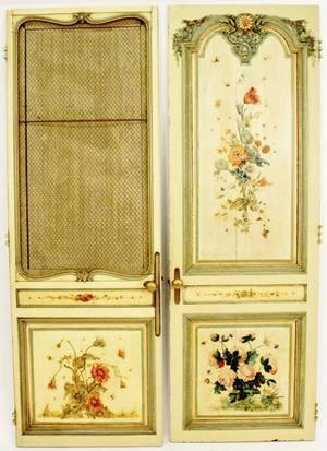 Pair of French Painted Doors