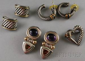 Group of David Yurman Sterling Silver and 14kt Gold Jewelry
