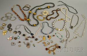 Group of Costume and Hardstone Jewelry