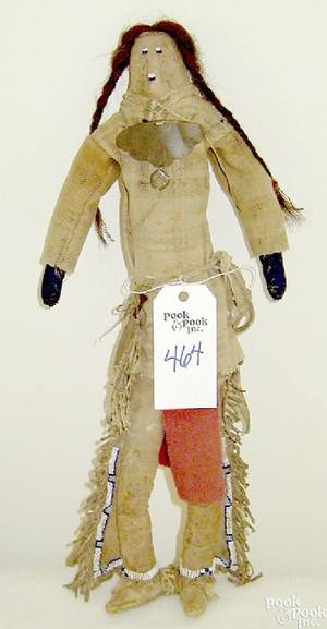 Plains Indian cloth doll late 19th c