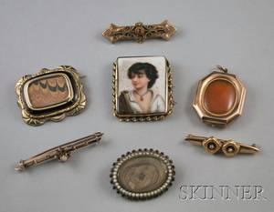 Seven Antique Jewelry Items