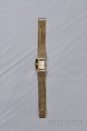14kt Gold and Diamond Covered Wristwatch