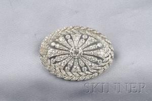 Art Deco Platinum and Diamond Brooch Tiffany  Co