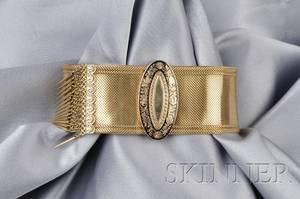 Victorian 14kt Gold Slide Bracelet