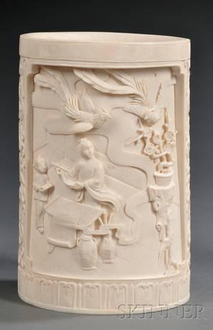 Ivory Brush Pot