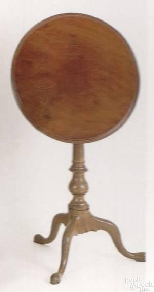 Philadelphia Queen Anne mahogany candlestand ca 1770