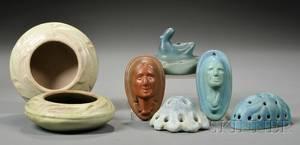 Seven Pieces of Van Briggle Pottery