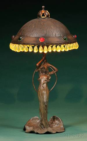 Art Nouveau Figural Table Lamp