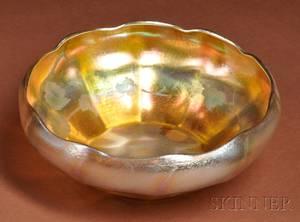 Tiffany Intagliocut Gold Favrile Bowl