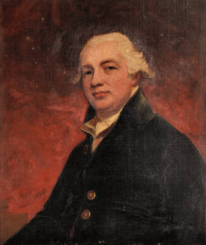 After George Romney British 17341802 Portrait of Robert Raikes 17351811