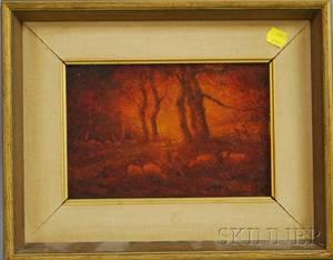 Henry Hammond Ahl American 18691953 The Sunsets Reddening Glow