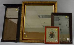 Three Mirrors and a Framed Floral Still Life