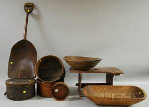 Seven Assorted Country Wooden Items