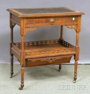 Victorian Walnut Work Table