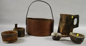 Six Assorted Country Wooden Domestic Items
