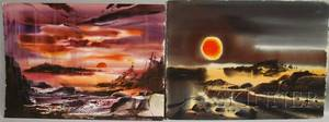 Laurence Philip Sisson American b 1928 Lot of Two Unframed Watercolors Summer Sea Sun