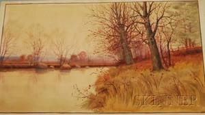 John Jesse Francis American 18891939 Late Autumn Stream