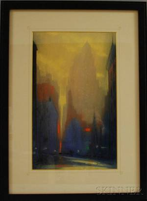 Leon Louis Dolice American 18921960 New York City Street