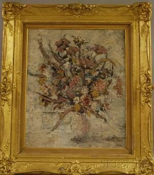 John Morris American 19201991 Floral Still Life