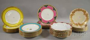 Thirtyfive Assorted Decorated Ceramic Tableware Items