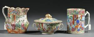 Three Rose Mandarin Decorated Porcelain Items