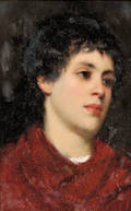 Italian School 19th20th Century Portrait Head of a Dark Haired Boy