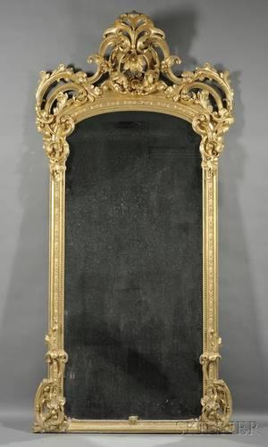 Victorian Rococo Revival Carved Giltwood Pier Mirror