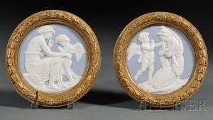 Pair of Sevres Porcelain Plaques