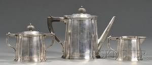 Frank M Whiting Threepiece Sterling Tea Set