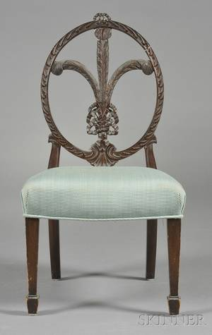 George III Hepplewhitestyle Carved Mahogany Prince of Wales Childs Side Chair