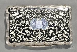 Continental Silver and Enamel Snuff Box