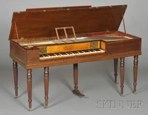 Regency Ebonyinlaid Mahogany Square Piano